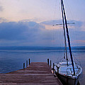 Sailboat And Dock Poster by Steven Ainsworth