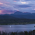 Sailboat On Lake Dillon Below A Clearing Storm, Colorado, Usa, August 2010 Print by Timothy Faust