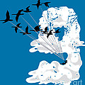Sailing Cloud Nine Poster by Laura Brightwood