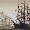 Sailing Ships Poster by James Williamson
