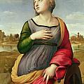 Saint Catherine of Alexandria Poster by Raphael