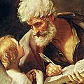Saint Matthew Print by Guido Reni