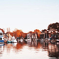 Saint Michael's Harbor Print by Bill Cannon