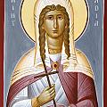 Saint Nadia - Hope Print by Julia Bridget Hayes