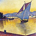 Saint Tropez at Sunset Poster by PG REPRODUCTIONS
