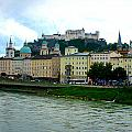 Salzburg over the Danube Poster by Carol Groenen