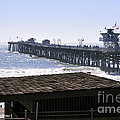 San Clemente Pier California Print by Clayton Bruster