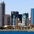 San Diego California Skyline Poster by Paul Velgos