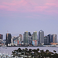San Diego Skyline and Marina at Dusk Print by Jeremy Woodhouse