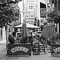 San Francisco - Maiden Lane - Outdoor Lunch at Mocca Cafe - 5D17932 - black and white Poster by Wingsdomain Art and Photography