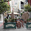 San Francisco - Maiden Lane - Outdoor Lunch at Mocca Cafe - 5D17932 Print by Wingsdomain Art and Photography