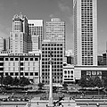 San Francisco - Union Square - 5D17941 - black and white Print by Wingsdomain Art and Photography