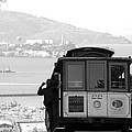 San Francisco Cable Car with Alcatraz Poster by Shane Kelly