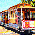 San Francisco Cablecar At Fishermans Wharf . 7D14097 Poster by Wingsdomain Art and Photography