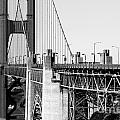San Francisco Golden Gate Bridge . Black and White Photograph . 7D8166 Poster by Wingsdomain Art and Photography