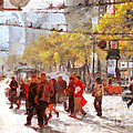 San Francisco Market Street . 40D3701 Poster by Wingsdomain Art and Photography