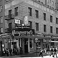 San Francisco Marquards Little Cigar Store Powell Street - 5D17950 - black and white Poster by Wingsdomain Art and Photography