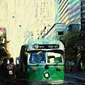 San Francisco Trolley F Line On Market Street Poster by Wingsdomain Art and Photography