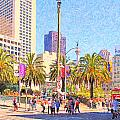 San Francisco Union Square Print by Wingsdomain Art and Photography