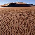 Sand Dunes Against Clear Sky Print by Axiom Photographic