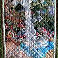 Santa Amelia Waterfall quilt Poster by Sarah Hornsby