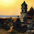 Santa Barbara Mission Print by PG REPRODUCTIONS