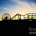Santa Monica Pier Sunset Photo Print by Paul Velgos