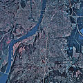 Satellite View Of Little Rock, Arkansas Poster by Stocktrek Images