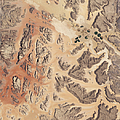 Satellite View Of Wadi Rum Poster by Stocktrek Images