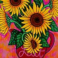 Saturday Morning Sunflowers Poster by Lisa  Lorenz