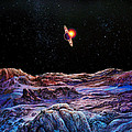 Saturn from Iapetus Poster by Don Dixon