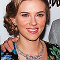 Scarlett Johansson Wearing Van Cleef & Print by Everett