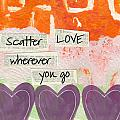 Scatter Love Poster by Linda Woods