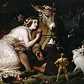 Scene from A Midsummer Night's Dream Poster by Sir Edwin Landseer