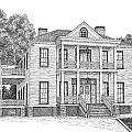 Schluter House in Jefferson Texas Print by Mickie Moore
