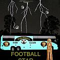Scream Football Star Poster by Eric Kempson