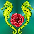 Seahorse Poster by Sheryl Unwin