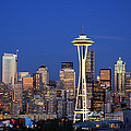 Seattle at Dusk by Adam Romanowicz