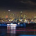 Seattle Skyline Firework Panorama Print by Dmitry Grekov