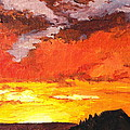 Sedona Sunset 2 Print by Sandy Tracey