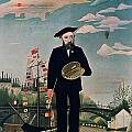 Self Portrait from Lile Saint Louis by Henri Rousseau