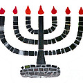 Seven-branched Temple Menorah Print by Christine Till