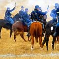 Seventh Cavalry in action Poster by David Lee Thompson