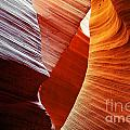 Shades of red - Antelope Canyon AZ Print by Christine Till