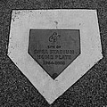 SHEA STADIUM HOME PLATE in BLACK AND WHITE Poster by ROB HANS