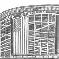 Shea Stadium Print by Juliana Dube