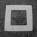 SHEA STADIUM THIRD BASE in BLACK AND WHITE Poster by ROB HANS