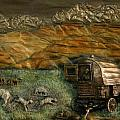 Sheep Herder's Wagon from Snowy Range Life Poster by Dawn Senior-Trask