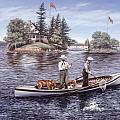 Shore Lunch on the Line Print by Richard De Wolfe