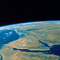 Shuttle Photograph Of The Middle East Print by Nasa